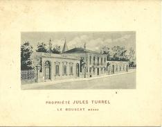 33 LE BOUSCAT CARTE DE VISITE PROPRIETE JULES TURREL MEDOC VINS DE BORDEAUX VIGNOBLE METIER PUBLICITE GIRONDE - Cartoncini Da Visita