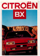 CITROEN BX CATALOGUE 6 PAGES 1987 Format A4 FRANCE - Publicidad