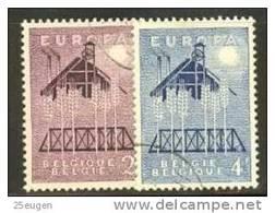 BELGIUM 1957 EUROPA CEPT  USED - Europa-CEPT