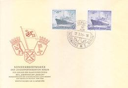 EAST GERMANY 12-03-1955 FIRST DAY COVER - SONDERBRIEFMARKE - 2V SE - SHIP - [5] Berlin