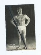 Carte  Abîmée - Bauduin - Champion De Force - Sports