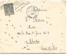 SAGE AMBULANT DE TARASCON A VALENCE SUR DEVANT DE LETTRE DU 11/8/1891 - Postmark Collection (Covers)