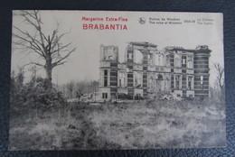 Cp/pk Reclame Pub Brabantia Margarine Ruines De Woumen 1914-18 Le Chateau - Publicité