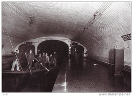Unique 75 Carte Photo PARIS Station ODEON - Thème METRO - Dégats Causés Par Les Inondations De 1910 - Metro, Estaciones