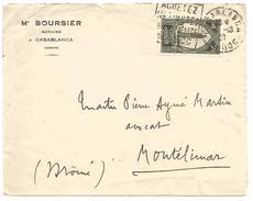MAROC DEVANT DE LETTRE DE CASABLANCA POUR LA FRANCE DU 4/10/1928 - Marokko (1891-1956)