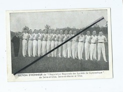 Carte (verso Pas Carte Postale)  - Section D'Honneur De L'Association Régionale Des Société De Gymnastique ...... - Gymnastics