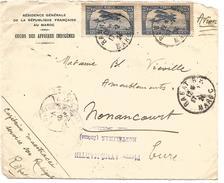 MAROC DEVANT DE LETTRE DE RABAT POUR LA FRANCE DU 17/2/1924 - Briefe U. Dokumente