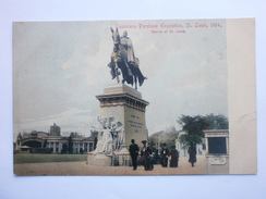 Postcard Louisiana Purchase Exposition St Louis 1904 Statue Of St Louis Early Undivided Back ( Rotograph ) My Ref B1267 - Exhibitions