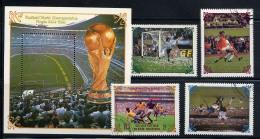 COREE DU NORD 1985, FINALES 1954-1988, 4 Valeurs Et 1 Bloc, Oblitérés / Used. R254-5 - Coupe Du Monde