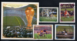 COREE DU NORD 1985, FINALES 1954-1988, 4 Valeurs Et 1 Bloc, Oblitérés / Used. R254-5