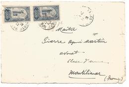 MAROC DEVANT DE LETTRE DE MARRAKECH MEDINA POUR LA FRANCE DU 22/7/1928 - Marokko (1891-1956)