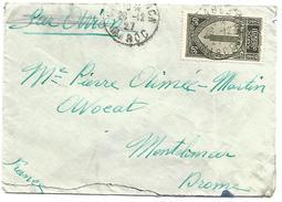 MAROC LETTRE DE CASABLANCA POUR LA FRANCE DU 28/12/1927 - Briefe U. Dokumente