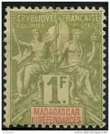 Madagascar (1896) N 40 * (charniere)