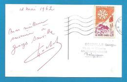 (A425) Signature / Dédicace / Autographe Original Henri Cochet - Champion De Tennis Français - - Autographes