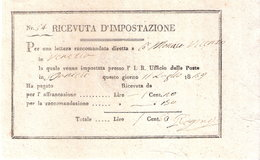 RICEVUTA D'IMPOSTAZIONE - Raccomandata Spedita Da S. Daniele A Venezia Nel 1839 - Altri