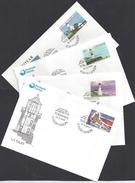 """FEROE (Iles) -  4 Enveloppes Premier Jour """" Les Phares """" Cachet Torshavn Du 23-9-1985 - TB - 4 Scans - - Faeroër"""