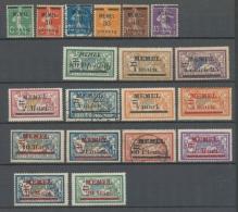 Colonies Françaises MEMEL N°18 à 37 Sf N°24 N*/Obl Cote 163,20 € N2627