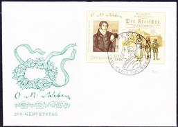 DDR GDR RDA - Carl Maria Von Weber (Mi.Nr.: Block 86) FDC 1986 - [6] Repubblica Democratica