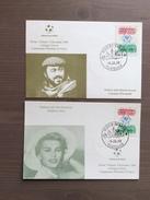 Coppia Cartoline Sorteggio Gironi Mondiale Di Calcio Italia '90 - Fútbol