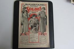 Reclame Pub Catalogue A La Samaritaine 1921 Mode Fashion Paris 20 Pages - Pubblicitari