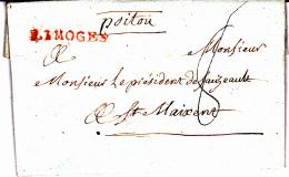 81 HAUTE VIENNE - LIMOGES - 1784 - 1701-1800: Precursors XVIII