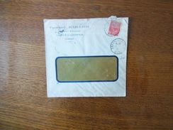 COUCY LES EPPES AISNE 17-8 31 ENVELOPPE FERNAND BAILLIER GRAINS ENGRAIS TIMBRE 50c EXPOSITION COLONIALE 1931 - Marcophilie (Lettres)