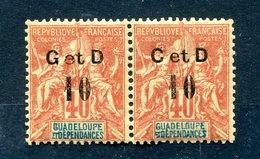 !!! GUADELOUPE : PAIRE DU N°46 TYPE K + VARIETE C AU LIEU DE G NEUVE * - Guadalupe (1884-1947)