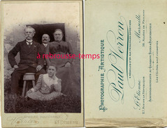 Grand CDV-(CAB) Une Famille En Extérieur-photo Paul Verron à Saint Etienne Et Marseille - Old (before 1900)