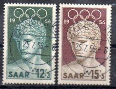 SARRE    N° 353/54  Oblitere  Jo 1956