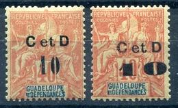 !!! GUADELOUPE : N°46 C AU LIEU DE G, TYPES H ET L NEUFS * - Guadalupe (1884-1947)