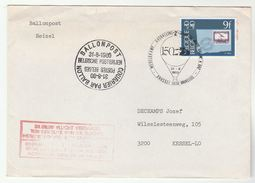 1980 BELGIUM Ballonpost BALLOON FLIGHT COVER Ballooning Stamps - Covers & Documents