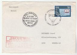 1980 BELGIUM Ballonpost BALLOON FLIGHT COVER Ballooning Stamps - Belgium
