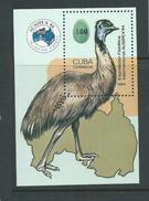 Cuba 1984 Bird Emu Ausipex Miniature Sheet MNH - Cuba
