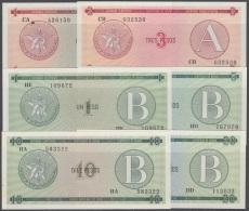 1985-BK-143 CUBA 1985. CERTIFICADO DE DIVISA LOTE DE DIFERENTES SERIES. 10 BILLETES UNC. - Cuba
