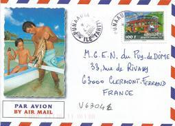 French Polynesia Polynesie 2008 Punaauia Bus Toursim Cover - Brieven En Documenten