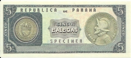 PANAMA 5 BALBOAS  UNC Reproductions - Panama