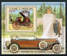 Sao Tome And Principe, 1983, Cars, Automobiles, MNH Perforated Sheet, Michel Block 137A - Sao Tome En Principe