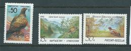 Kyrgyzstan 1992 Birds 3 Values MNH - Kyrgyzstan