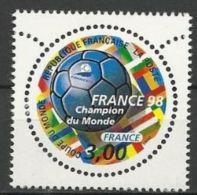 """Yt 3170 """" Vainqueur Coupe De Monde Football """" 1998 Neuf ** - France"""