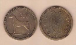 """IRLANDA 20 PENCE  2.000 KM#25 REPLICA  Colección """"LO QUE EL EURO SE LLEVO"""" SC/UNC  Réplica  T-DL-11.556 - Irlande"""
