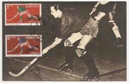 Espagne Hockey Carte Maximum 1960 Spain Hockey Maxicard