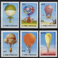Sao Tome And Principe, 1979, History Of Aviation, Balloons, MNH Perforated, Michel 619-624A - Sao Tomé E Principe