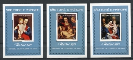 Sao Tome And Principe, 1977, Rubens Paintings, MNH Perforated, Michel Block 4-6C - Sao Tome En Principe
