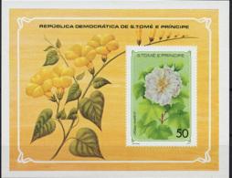 Sao Tome E Principe, 1979, Flowers, Flora, Nature, MNH Imperforated Sheet, Michel Block 33 - Sao Tomé E Principe