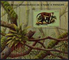 Sao Tome E Principe, 1981, Mammals, Animals, Fauna, MNH Perforated Sheet, Michel Block 55 - Sao Tome En Principe