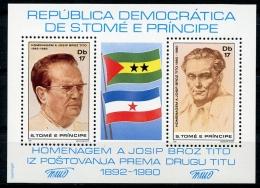 Sao Tome E Principe, 1981, Tito, Yugoslavia, MNH Perforated Sheet, Michel Block 58A - Sao Tome En Principe