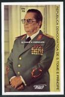 Sao Tome E Principe, 1981, Tito, Yugoslavia, MNH Perforated Sheet, Michel Block 59A - Sao Tome En Principe