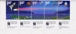 MARSHALL ISLANDS 1985 Compl.set 5 Stamps*MNH** Halley's Comet - Space