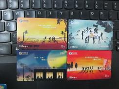China Telecom Prepaid Phonecard,basketball And Others, Set Of 4, Used - Cina