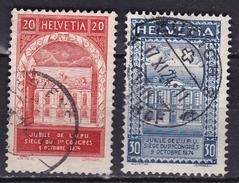 Switzerland / Schweiz / Suisse : 1924 50 Jahre Weltpostverein Kompletter SatzMichel 192 / 193 - Oblitérés